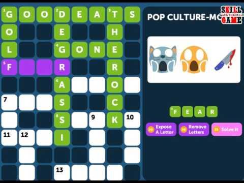 Crossword Quiz POP CULTURE Level 10 - Walkthrough