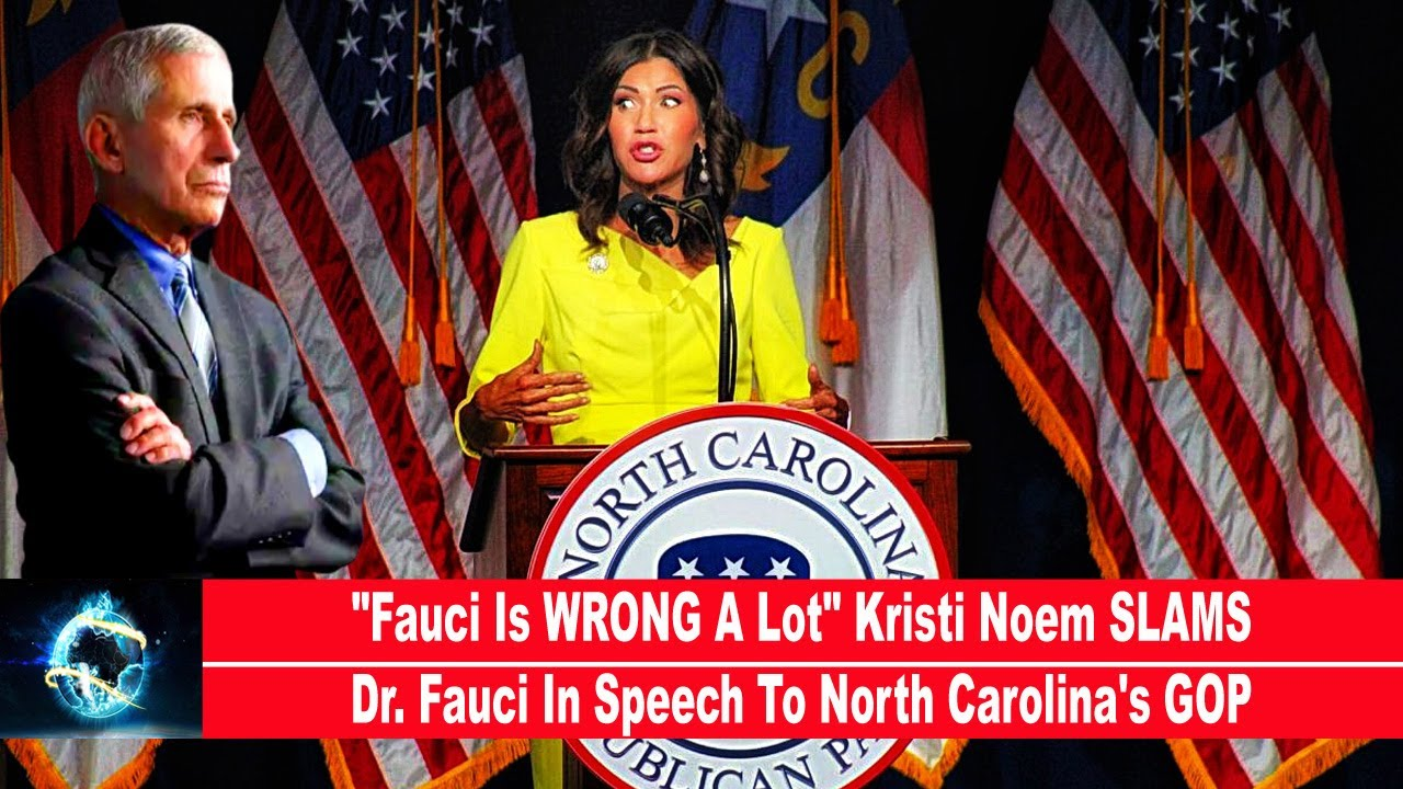 """""""Fauci Is WRONG A Lot"""" Kristi Noem SLAMS Dr. Fauci In Speech To North Carolina's GOP!!!"""
