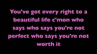 Who Says - Selena Gomez (Acoustic) Lyrics