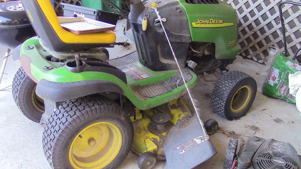 replacing spindle on john deere 48 inch mower deck mm 51 [ 1280 x 720 Pixel ]