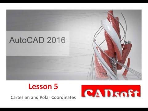 AutoCAD 2016 English - Lesson 5/149 - Cartesian and Polar Coordinates