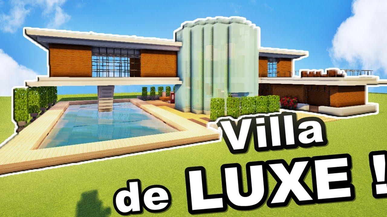 Minecraft tuto GRANDE VILLA de luxe !! - YouTube