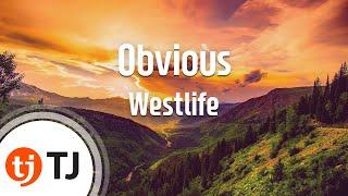 [TJ노래방] Obvious - Westlife (Obvious - Westlife) / TJ Karaoke