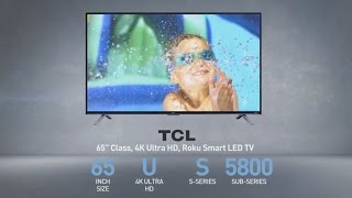 TCL 65US5800 65 inch LED UHD 4K TV // Full Specs Review #TCL