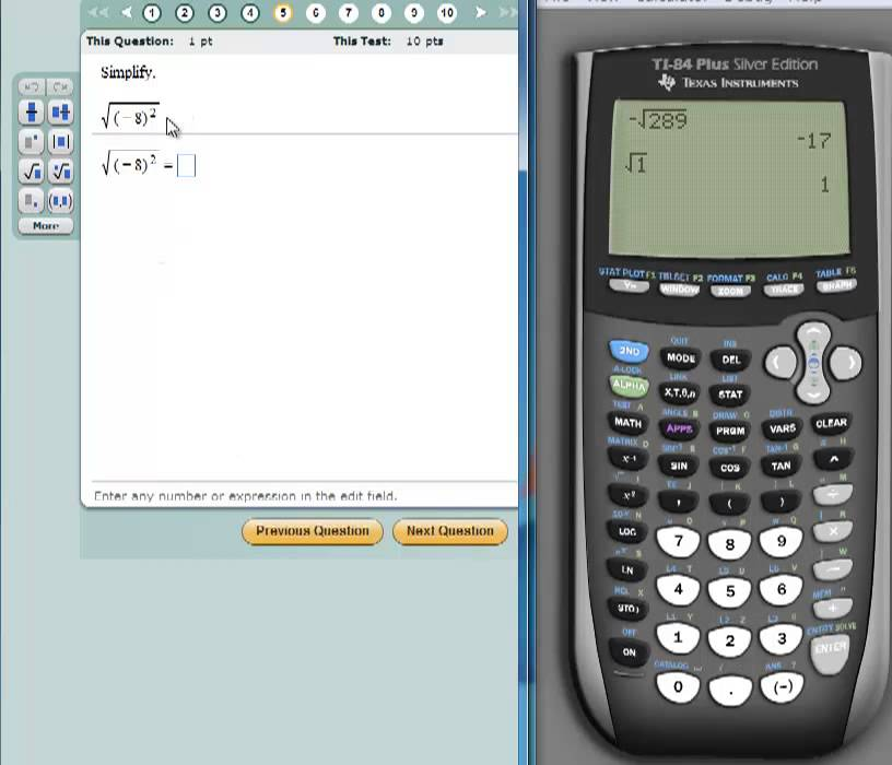 Finding Square Roots With The Ti 84 Graphing Calculator Youtube