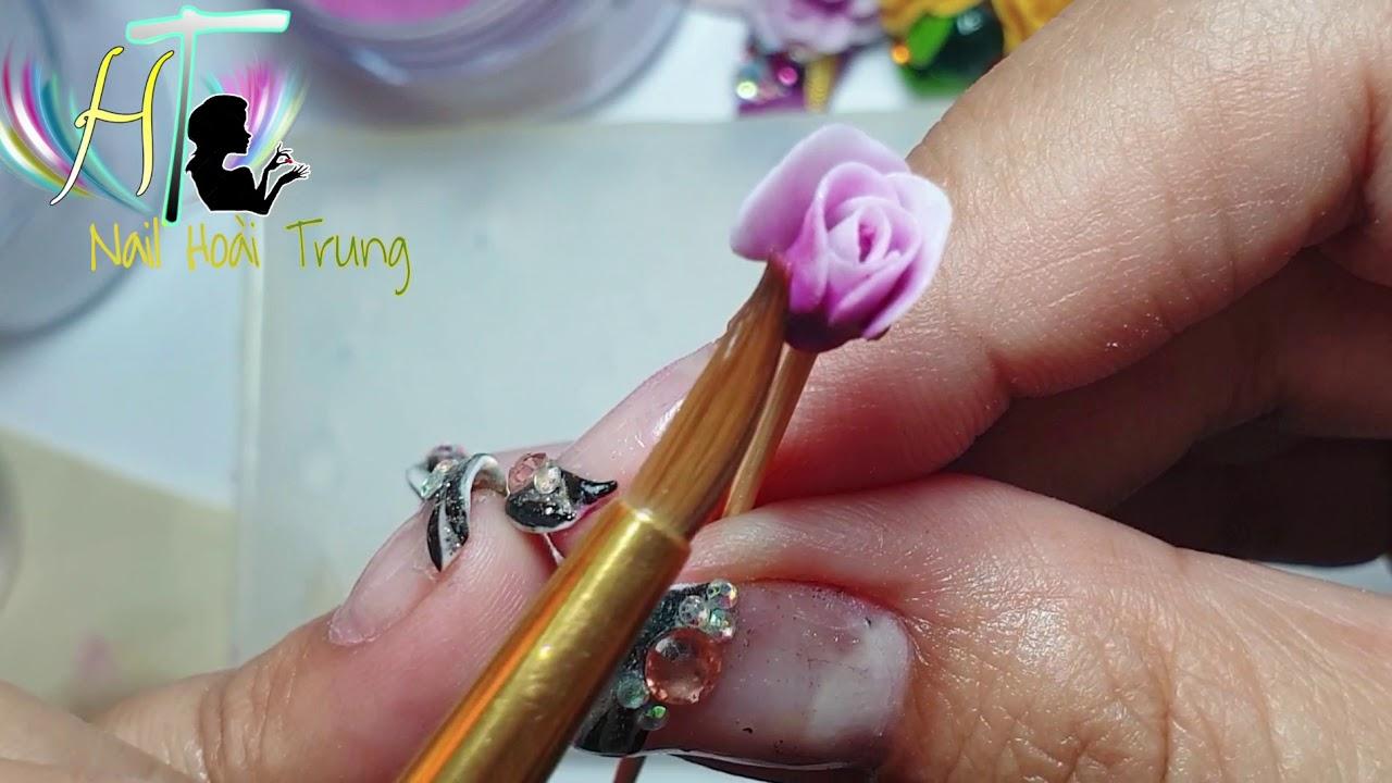 Hướng Dẫn tạo cánh Hoa hồng 6D nail hoài trung