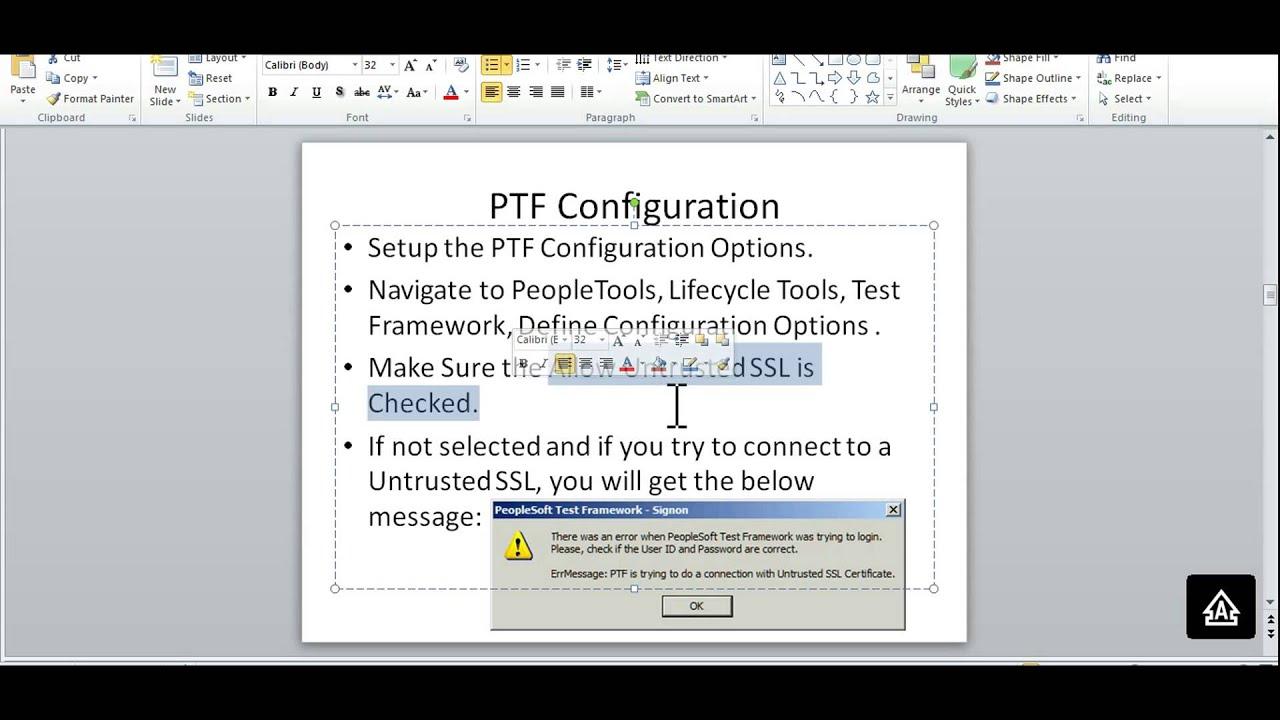 Peoplesoft test framework configuration setups youtube peoplesoft test framework configuration setups xflitez Gallery