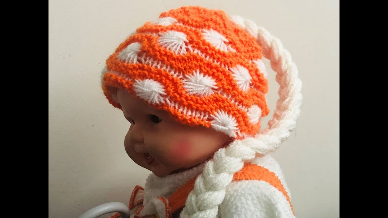 c0638c9f676 Choti wali topi buno. knit braid cap hat ( चोटी वाली टोपी बुने )