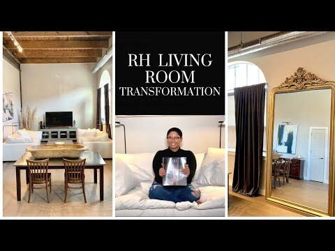 MODERN LIVING ROOM TRANSFORMATION // RESTORATION HARDWARE, IKEA, HOMEGOODS