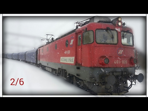 Train cab wiev Serbia - Freight train on the section from Mala Krsna to Ostruznica 2/6