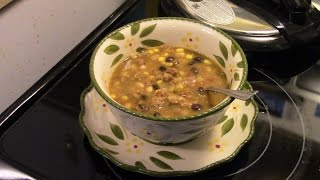 Pressure Cooker Southwestern Bean and Barley Soup