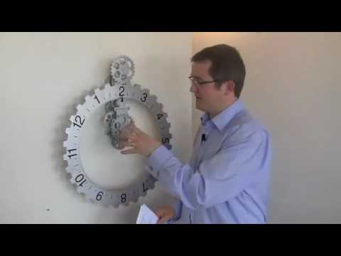 Invotis Wall Gear Clock Youtube