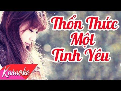 KARAOKE | Thổn Thức Một Tình Yêu - St.Trần Huân | Nhạc Trẻ Karaoke Hay Nhất