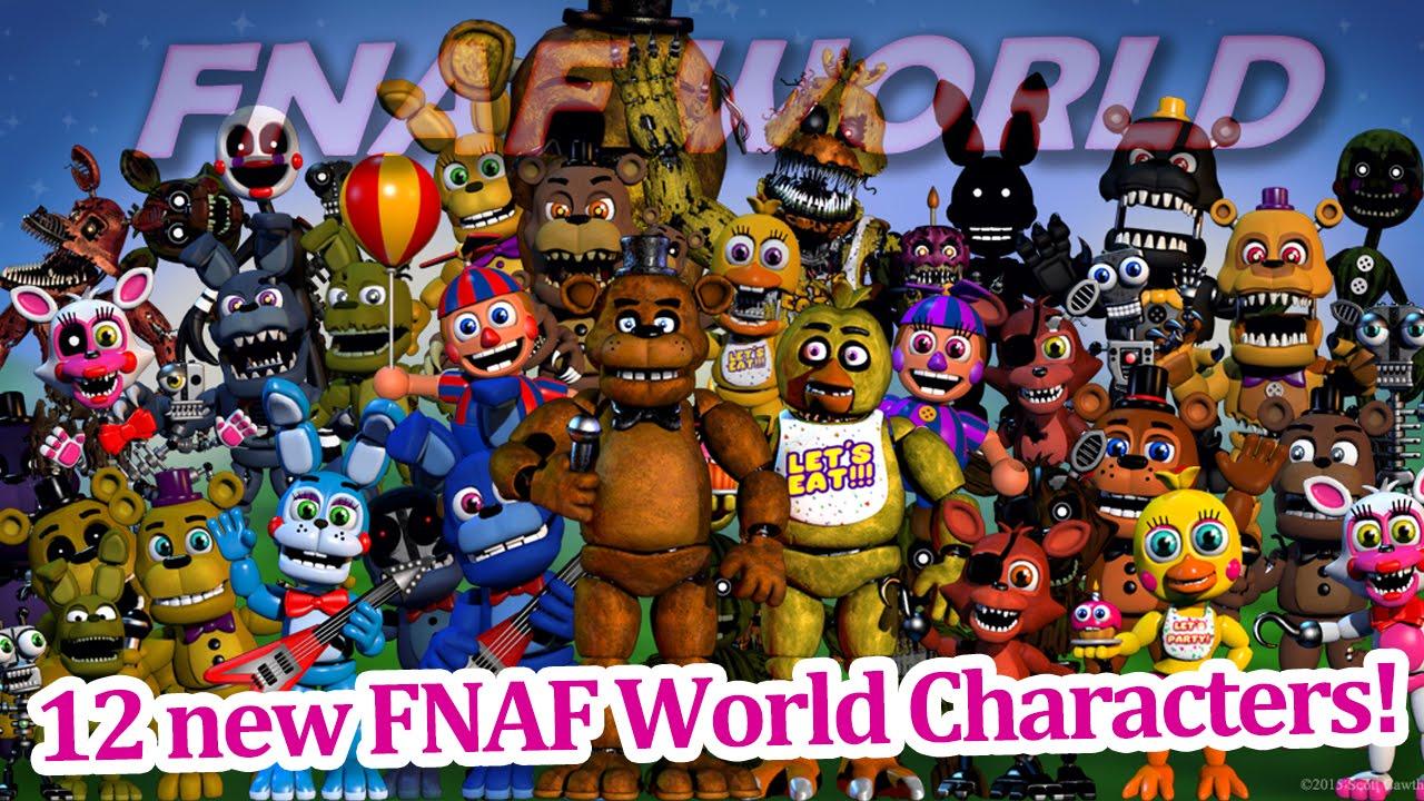 12 more new fnaf world characters fnaf world news youtube