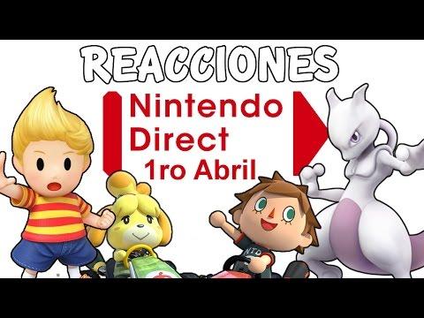 NINTENDO DIRECT 1/04/15 - REACCION MEWTWO, LUCAS Y MARIO KART 8 DLC