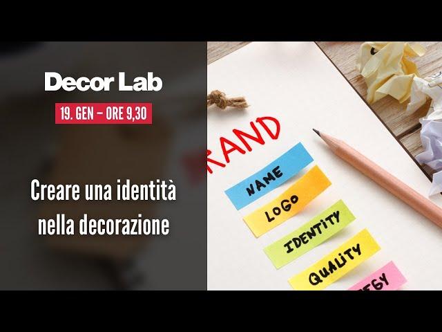 Creare una identità nella decorazione