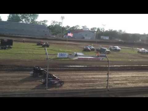 USAC Midgets Heat 4  Kokomo Speedway