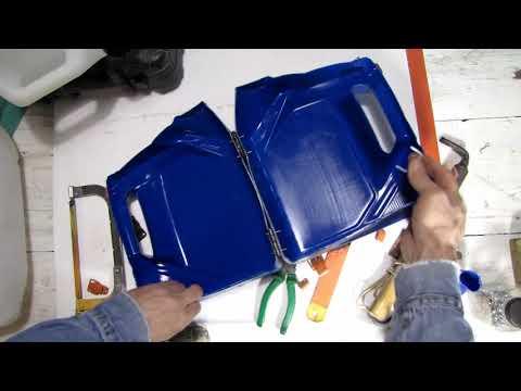 из канистры масла для машины сделать кейс для инструмента и другой мелочевки