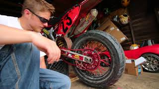 Motorcycle Chain Replacement - Honda crf450r