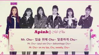 에이핑크 Apink - Mr Chu | Lyric Korean, Romanized, English
