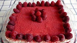 Торт без выпечки Малиновый Тирамису! Готовить 20 минут!