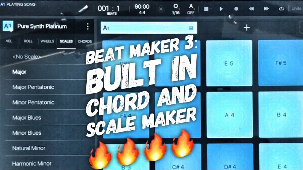 Beat Maker 3: Built In Chord and Scale Maker 🔥🔥🔥