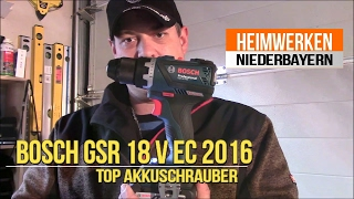 "Bosch GSR 18 V EC 2016 ""TOP Akkuschrauber"" mit Röhm Bohrfutter"