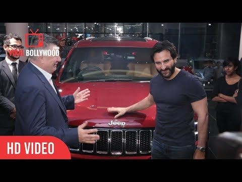 Saif Ali Khan With His New Red Jeep At...