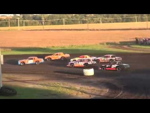 IMCA Stock Car Heats Benton County Speedway 9/18/16
