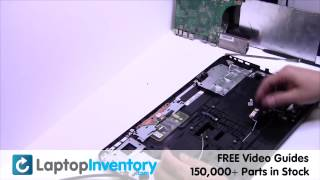 toshiba satellite l850 c850 palmrest replacement   disassemble take apart touchpad install c75 s950