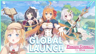 【Princess Connect: Re Dive】GLOBAL LAUNCH! Playing my FIRST gacha ever!