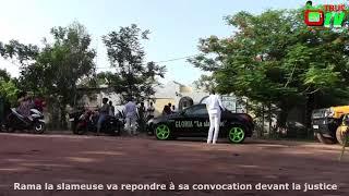 Le Départ Et L'arrivée De Rama La Slameuse Au Palais De Justice De Ouagadougou Pour Sa Convocation
