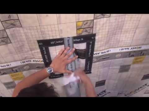 Folienverlegung von innen Teil 4 (Rohrmanschette) - ISOVER live Sendung