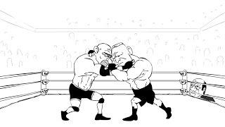 Bill Goldberg vs Brock Lesnar WWE Survivor Series Cartoon