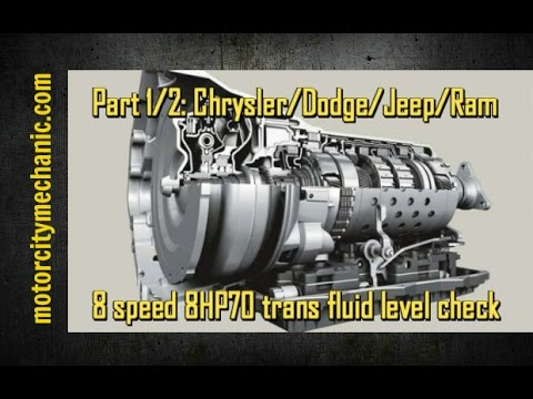 Part 1/2: Chrysler/Dodge/Jeep/Ram 8 speed 8HP70 transmission fluid level  check