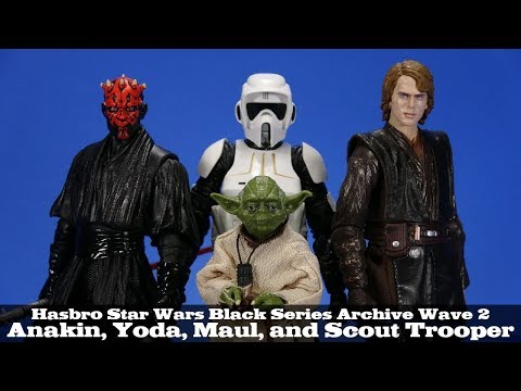 Star Wars Black Series Archive Wave 2 Darth Maul, Anakin, Scout Trooper, And Yoda Hasbro Review
