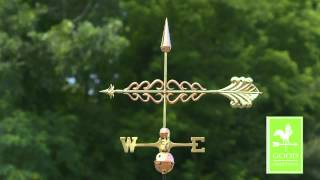 Good Directions 954p Smithsonian Arrow Weathervane - Polished Copper
