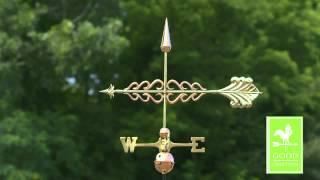 Good Directions 954p Smithsonian Arrow Weathervane - Polished Copper