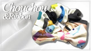 手縫い【基本のシュシュ作りとリボン付きシュシュ!】 thumbnail