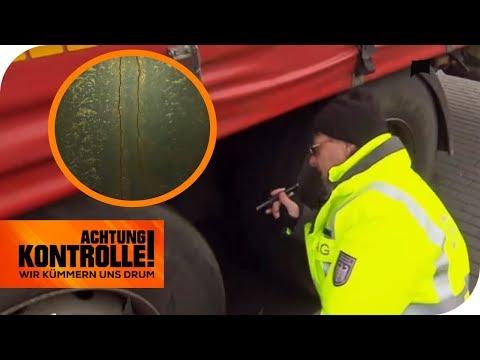 Sicherheitsrisiko! Dieser LKW fährt mit gerissenem Rahmen! | Achtung Kontrolle | kabel eins