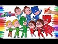 PJ MASKS Amaya Conor Greg Transform into Owelette Catboy Gekko Coloring Pages Animation Videos