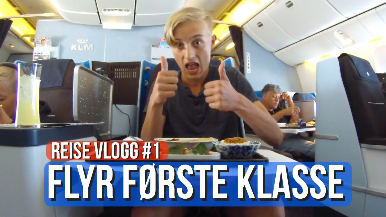 FLYR FØRSTE KLASSE! - Reise Vlogg #1