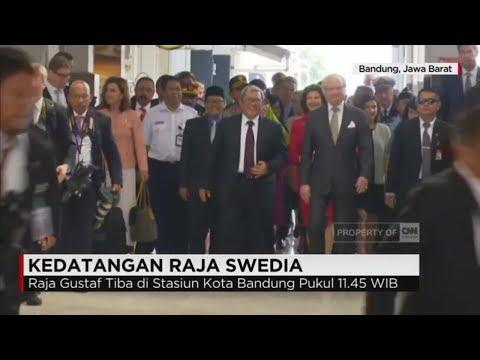Raja Swedia Tiba di Bandung