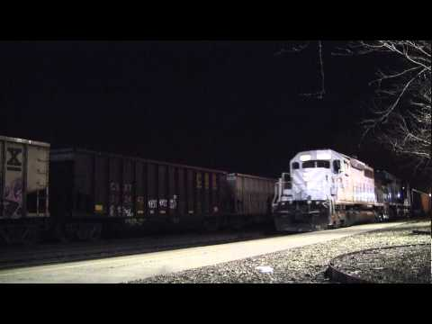 CSX Coal Train with OFOX SD40-2 Huntington, WV [HD]