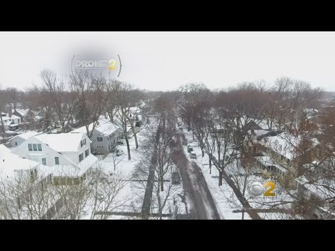 Drone 2: Evanston, From Shoveling To Sledding 2017's Mid-March Snow