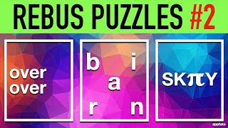 Rebus Puzzles with Answers #2 (30 Picture Brain Teasers)   Word Games to Play on Family Game Night