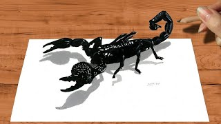 3D Pencil Drawing: Emperor Scorpion How to Draw Animals - Speed Draw | Jasmina Susak