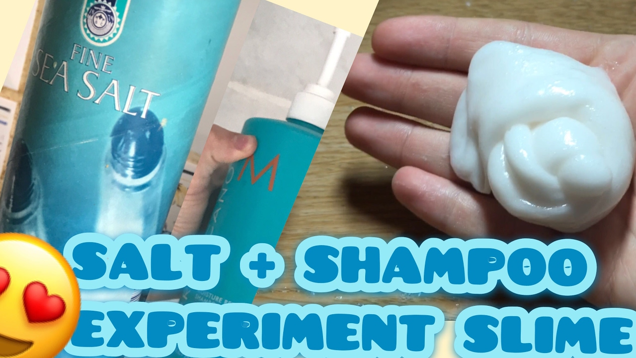 How To Make Slime With Salt And Shampoo  Experiment! Slime Without Glue, Borax,detergent,eye Drops