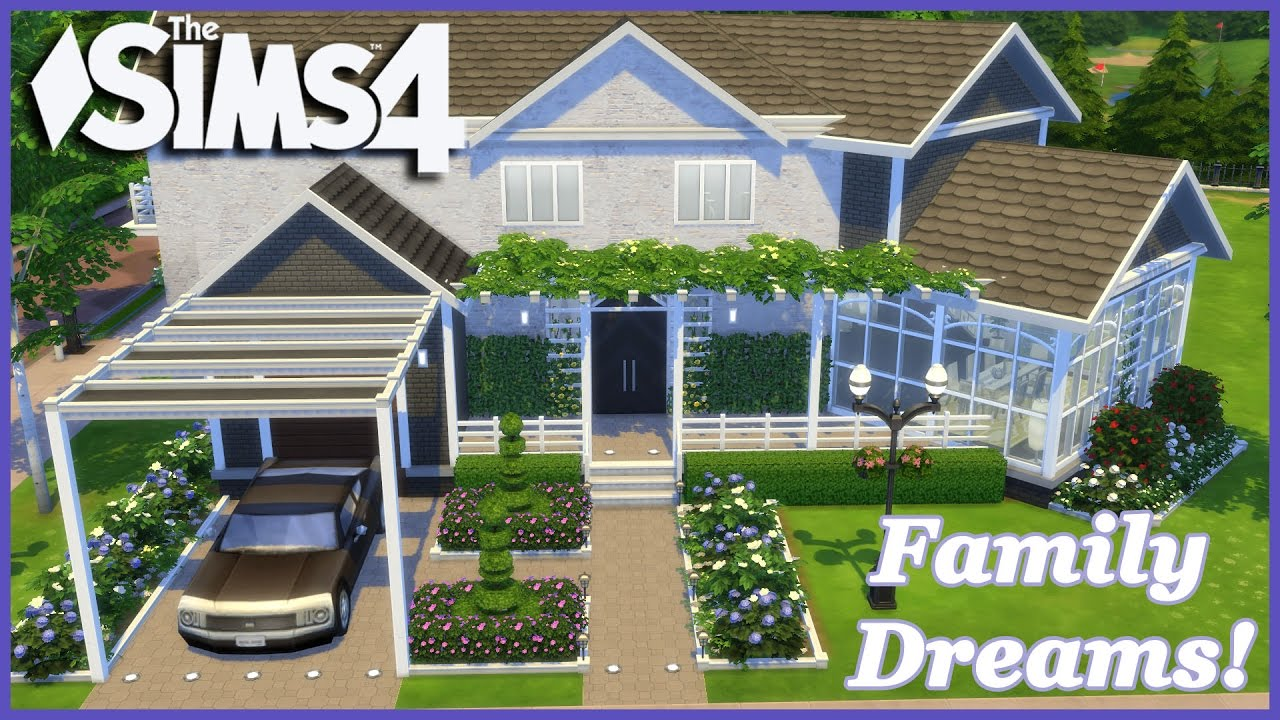 The sims 4 family dreams 1 2 house build youtube for House for two families