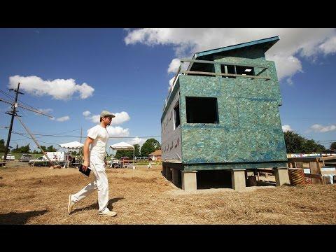 English: Brad Pitt Builds Tiny Homes For Hurricane Katrina's 10th Anniversary